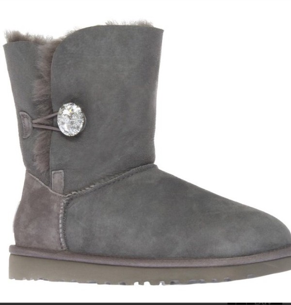 ugg boots swarovski jewels jewel button ankle boots grey winter outfits winter boots fashion style shoes