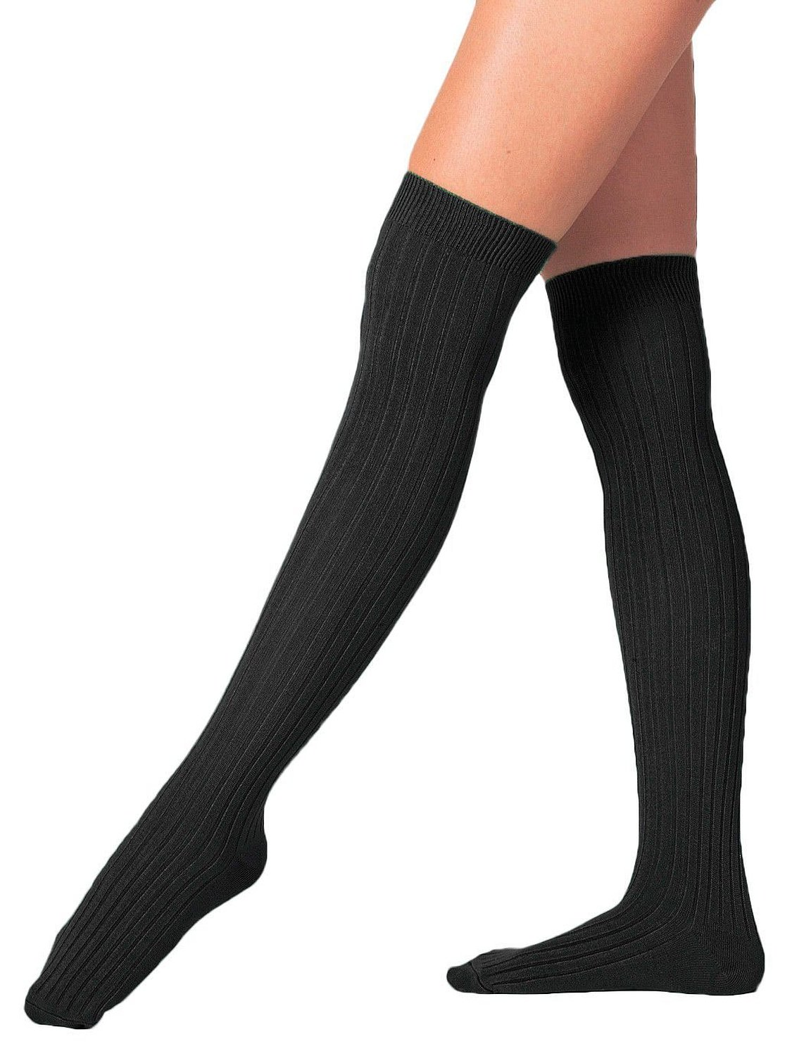 Amazon.com: American Apparel Ribbed Modal Over-the-Knee Sock - Black / One Size: Clothing