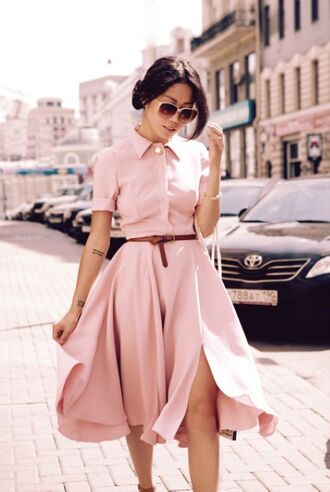 dress pink dress summer vintage dress classy dress pink sunglasses pale pink spring shirtdress nude peach dress baby pink dress classy slit dress slit retro blush pink shirt dress belt cute dress pastel dress button up dress day dresses chiffon dress spring dress fashion couture dress long sleeve dress midi dress light pink help?