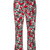Marni - Poetry flower cropped trousers - women - Cotton/Linen/Flax - 40, Red, Cotton/Linen/Flax
