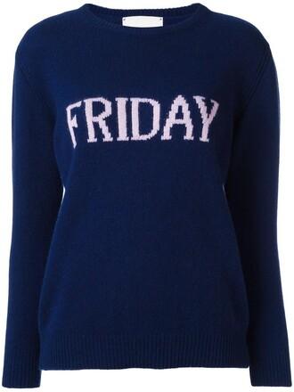 jumper women friday blue wool sweater
