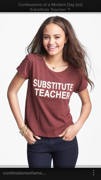women's substitute teacher the fosters t-shirt quote on it