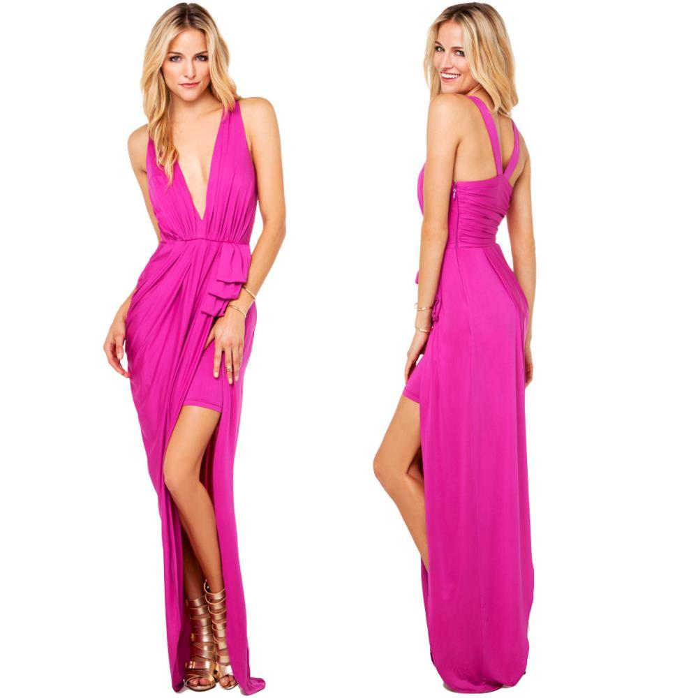 Goddess Drape Maxi Dress / klassythreadz