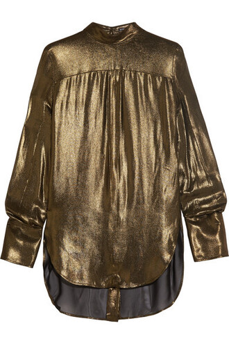 blouse gold top