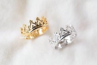 jewels ring rings silver crown rings silver rings gold rings gold crown crown ring anillo