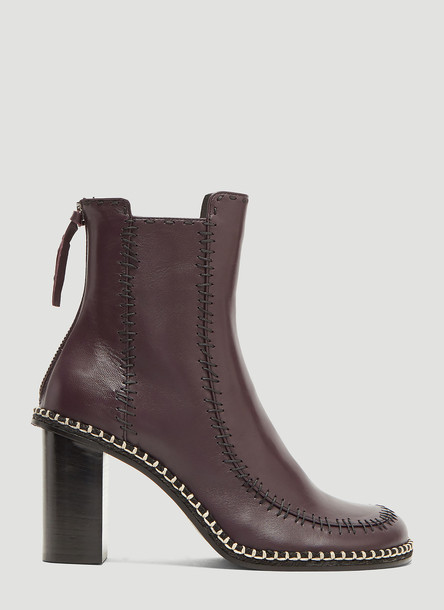 JW Anderson Scare Crow Ankle Boots in Purple size EU - 38