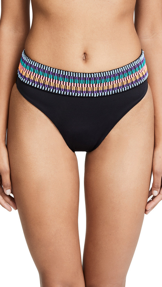 Peixoto Zoni High Waist Bikini Bottoms in black