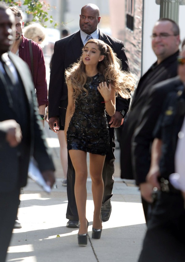 ariana grande black dress
