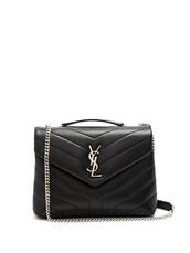 quilted,bag,shoulder bag,leather,black