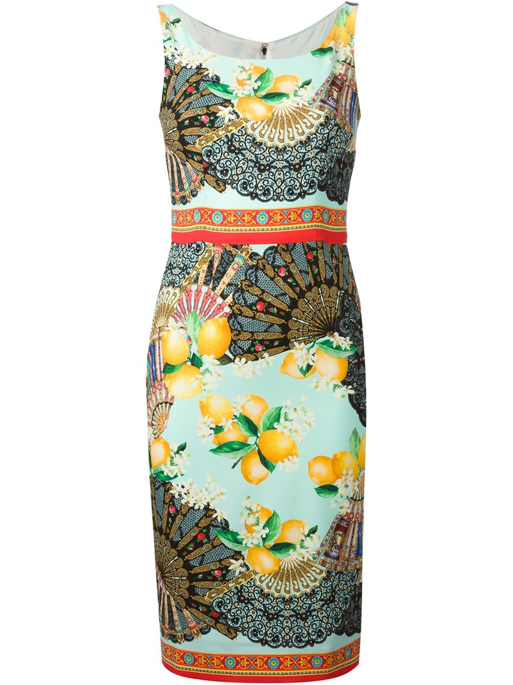 Dolce & gabbana fans print dress