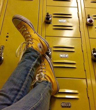 shoes custom converse yellow mustard