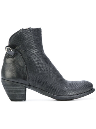 women boots ankle boots leather grey shoes