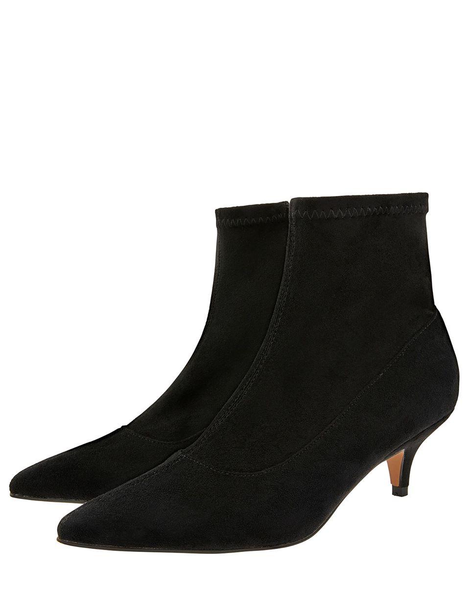 Vixie Ankle Suedette Sock Boots