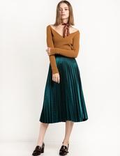 skirt,metallic green pleated midi skirt,metallic skirt,gucci,pixie market,pleated skirt,pleated,metallic