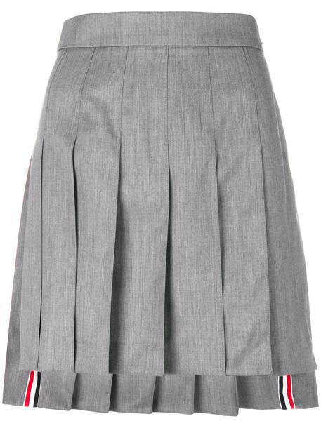 Thom Browne skirt mini skirt mini pleated women wool grey