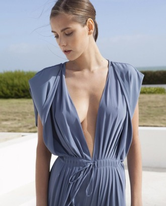 jumpsuit summer sexy summer jumpsuit jumper blue jumpsuit formal event outfit evening outfits classy