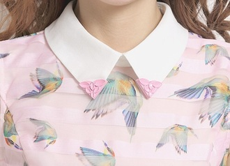 blouse pastel button up blouse cute style print