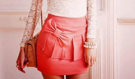 PLEATED GORGEOUS MINI PENCIL SKIRT WITH BOW UNIQUE on The Hunt