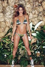 top,agua bendita,bikini bottoms,bikini top,cheeky,halter top,luxury,print,triangle,multicolor,bikiniluxe