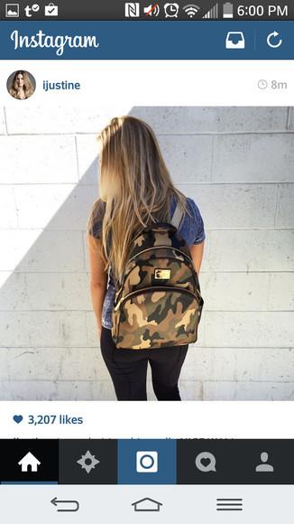 camouflage bag michael kors bag backpack camoflauge