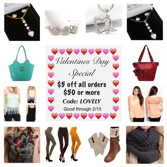bag sale $5 off valentines day gift ideas scarf sale jewelry sale purses sale fashion accessories