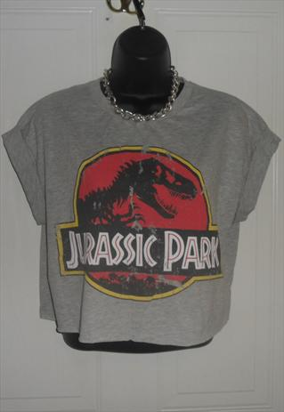 diy cropped jurassic park t shirt festival summer ontrend | mysticclothing | ASOS Marketplace