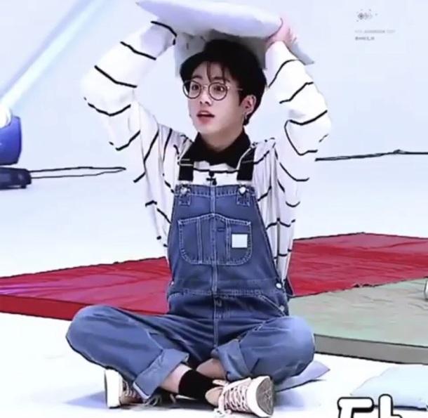 shirt bts overalls K-pop pants glasses