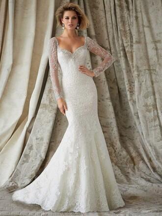 dress lace top wedding dress