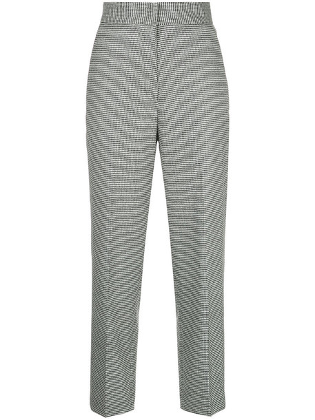 H Beauty & Youth cropped women black wool houndstooth pants