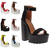 Womens Party Ladies Platform Chunky Heel Cleated Sole Strappy Sandals Size 5-10