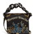 Oversized curb-chain embroidered shoulder bag