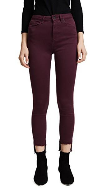 DL jeans skinny jeans high noir