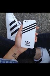 phone cover,adidas phone,white,adidas,iphone6s plus,iphone case