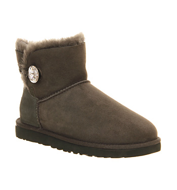Ugg australia mini bailey bling forest green suede