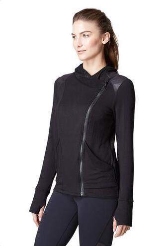 jacket french terry knit black michi bikiniluxe