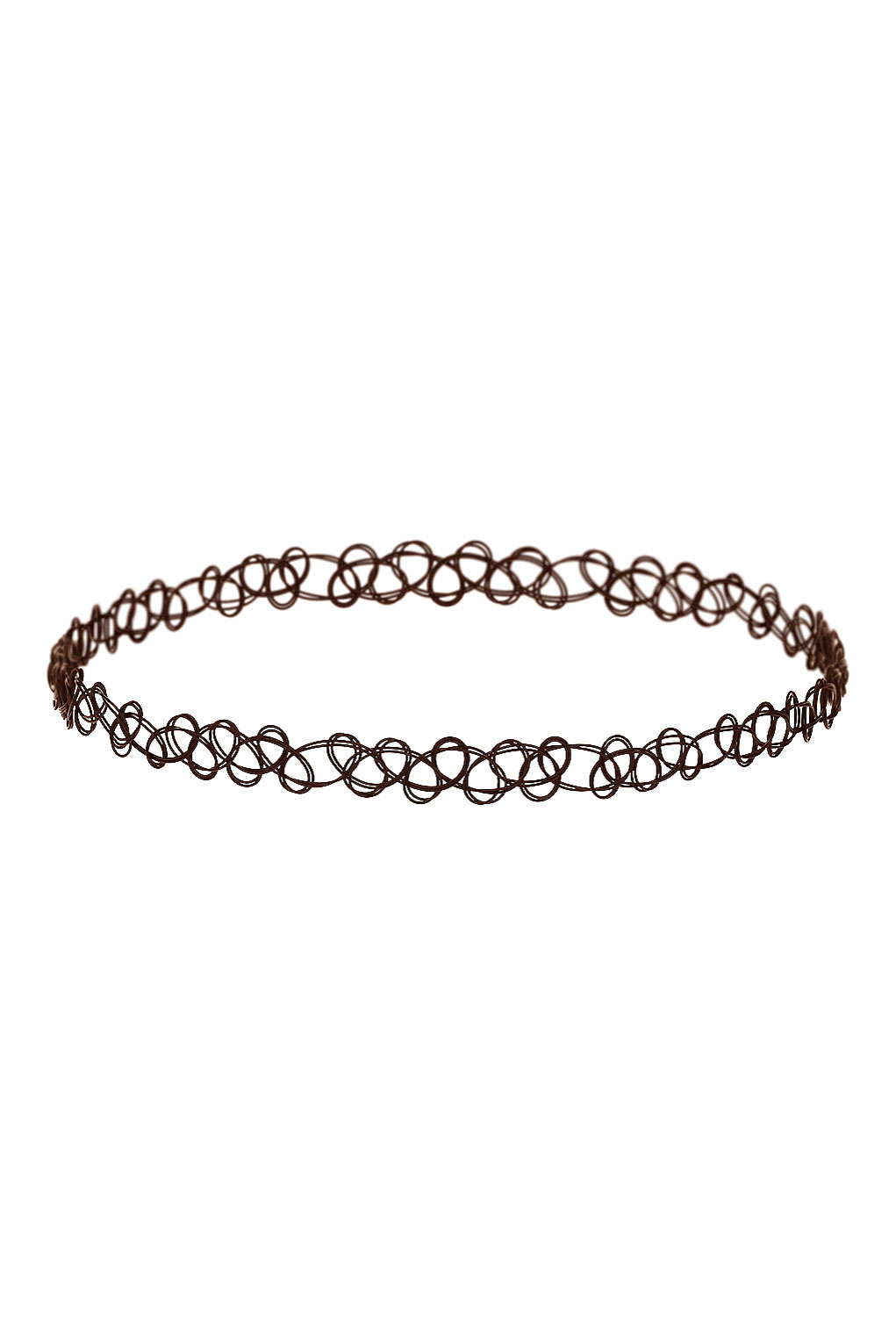 Brown tattoo choker