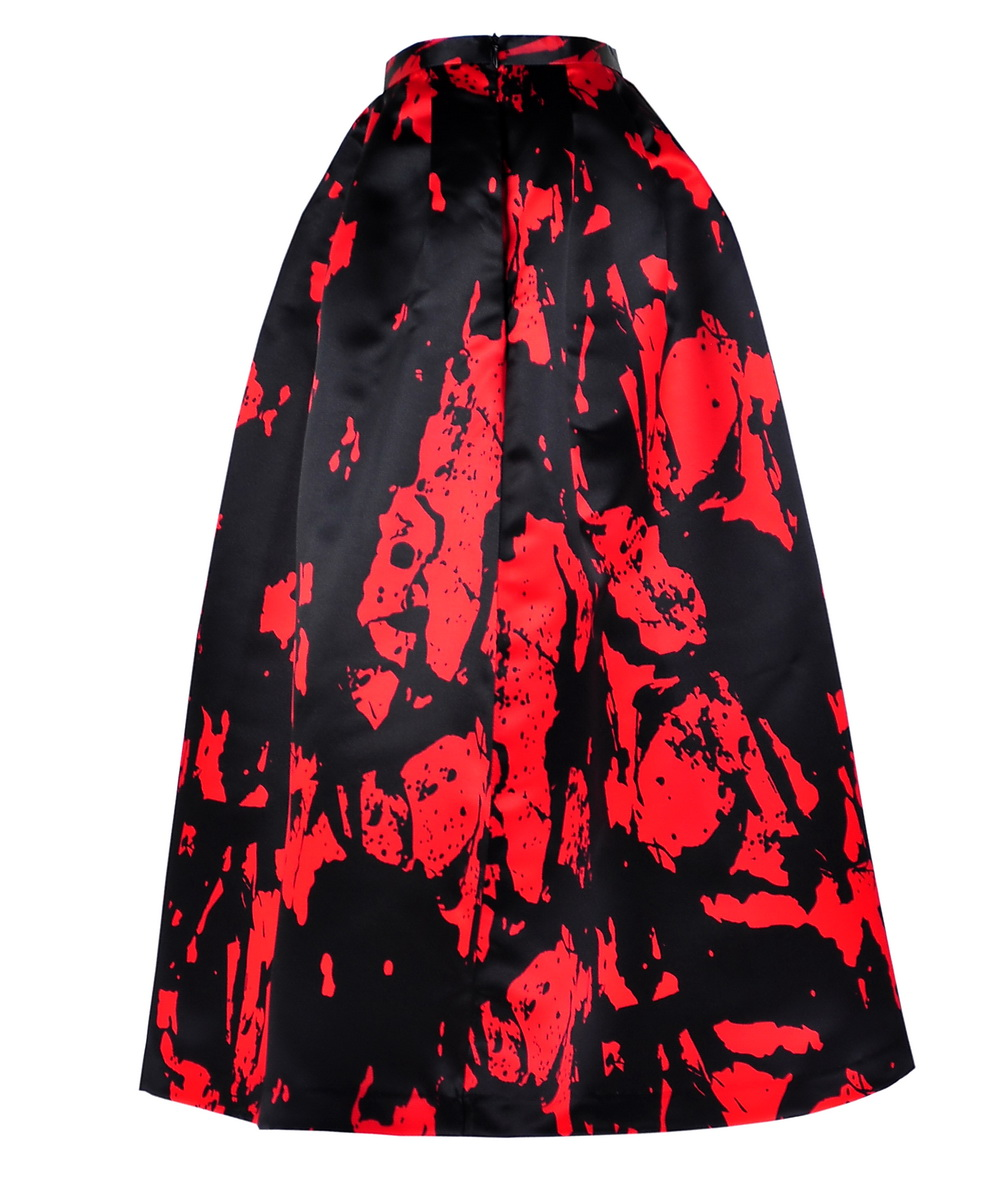 Get The Looks Online Wardrobe\Paint Splatter Full Skirt in Red