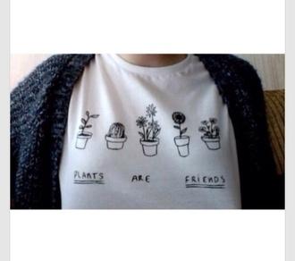 cute hipster top t-shirt plants are friends t-shirt tank top starbucks logo