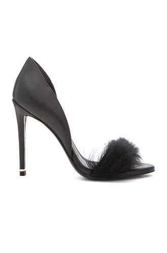heel fur black