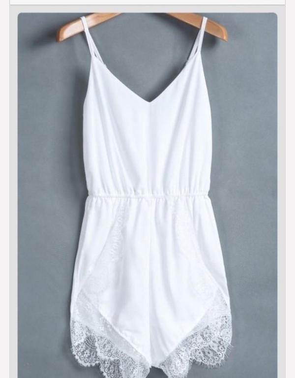 jumpsuit white romper
