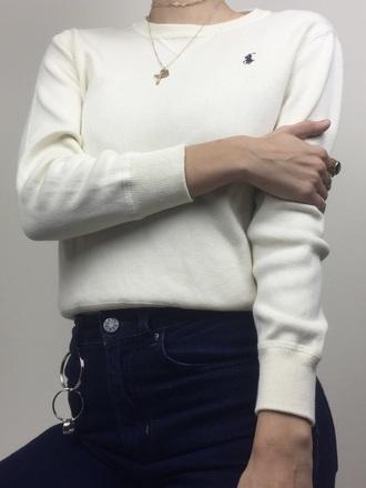 sweater white ralph ralph lauren ralph sweatshirt jumper ralph jumper ralph lauren jumper