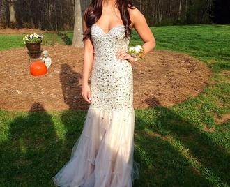 prom dress dress glitter dress champagne dress