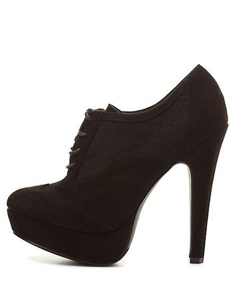 shoes heels lace up charlotte russe