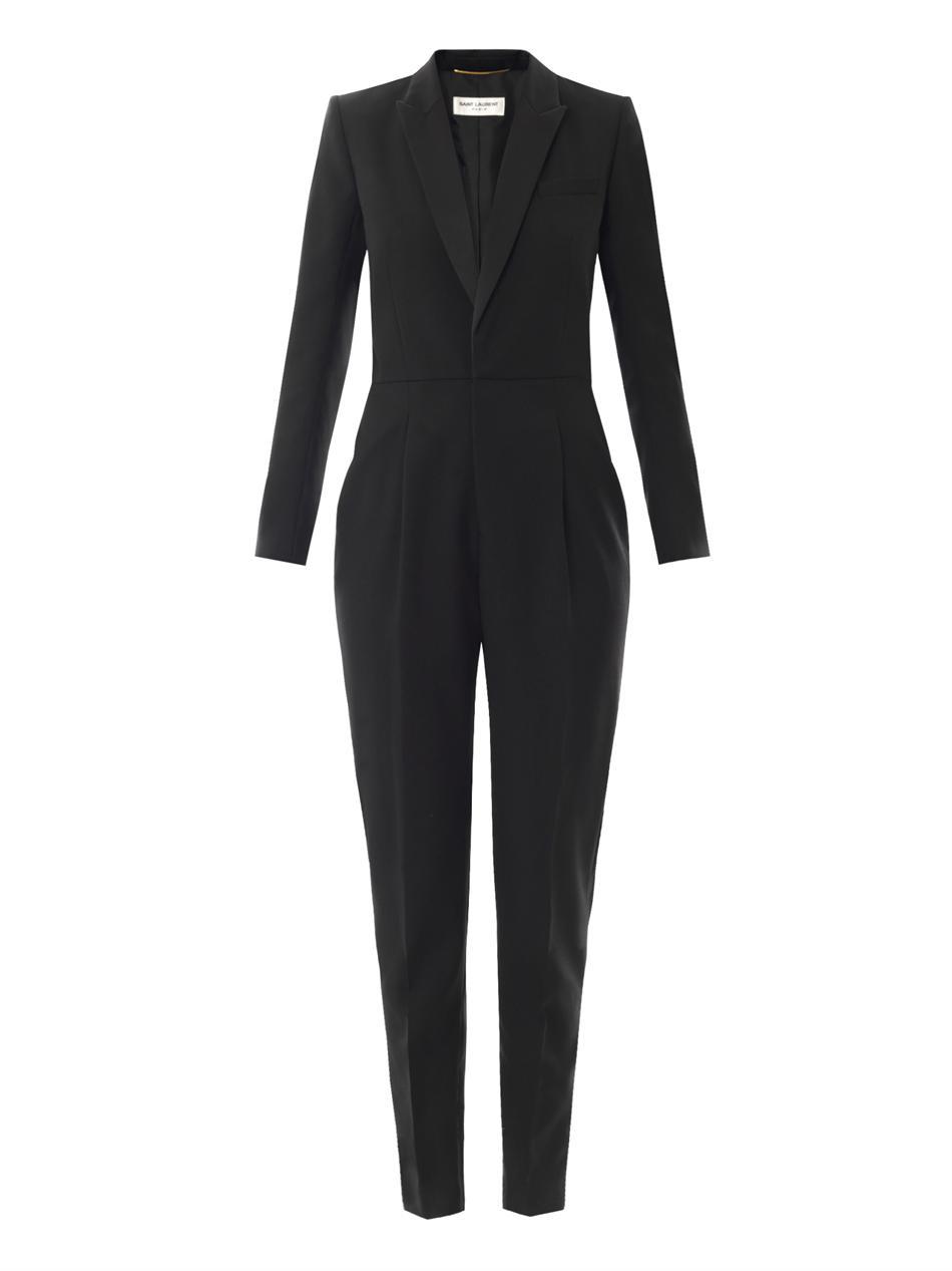 Wool-gabardine tuxedo jumpsuit | Saint Laurent | MATCHESFASHIO...