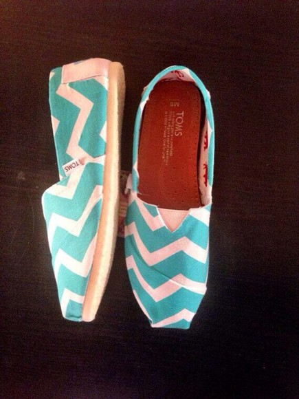 shoes toms mint chevron
