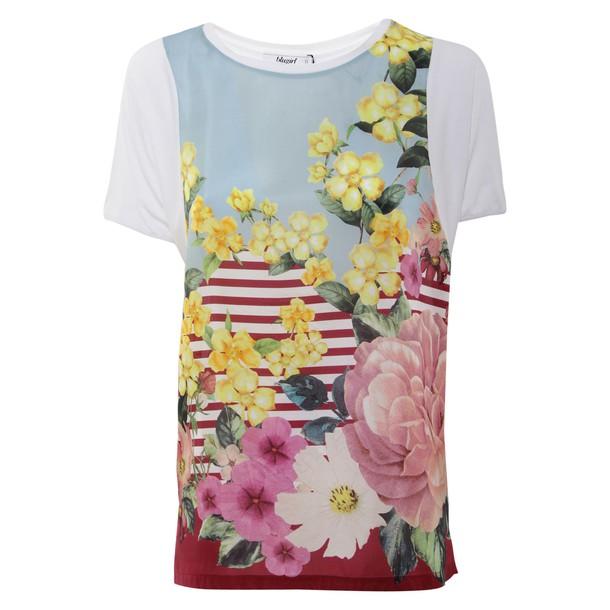 Blugirl t-shirt shirt t-shirt silk white top