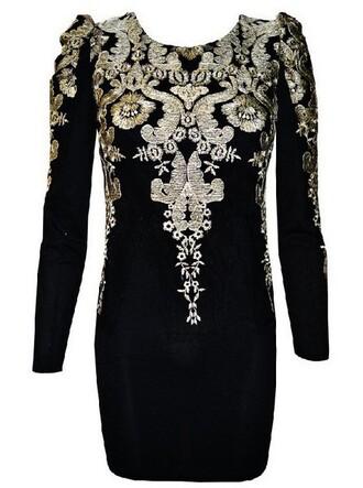 dress little black dress homecoming dress black dress with gold