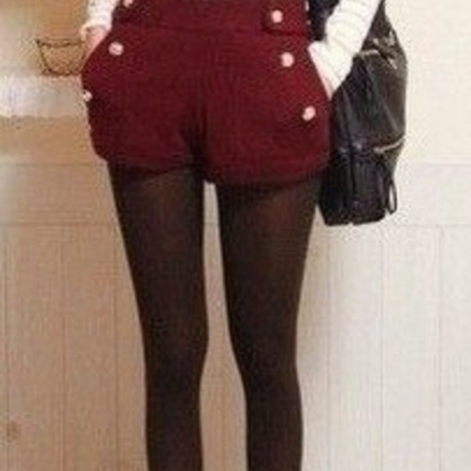 burgundy red cute black shoes shirt shorts bag hipster tights vintage buttons winter outfits christmas scarf leggings scarf red
