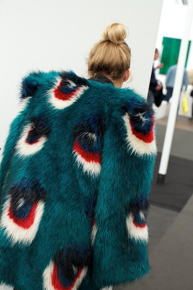 peacock coat fur
