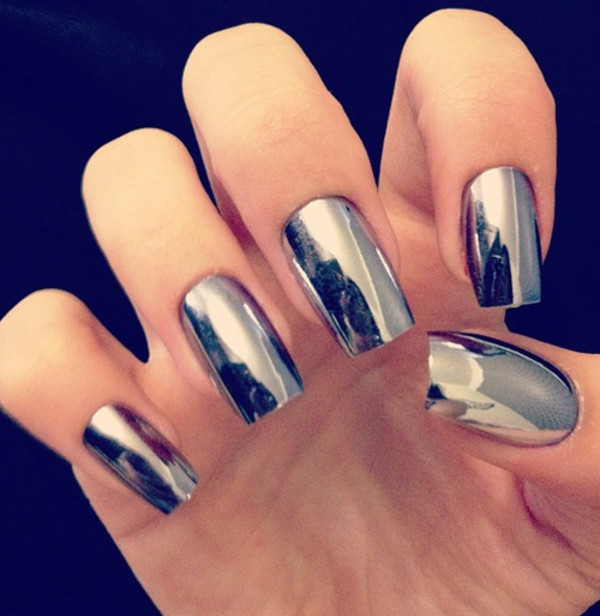 jewels nail polish nails nail art mirror silver nail polish mirror nail polish